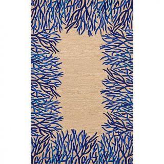 Liora Manne Coral Bdr   Cobalt   10069527