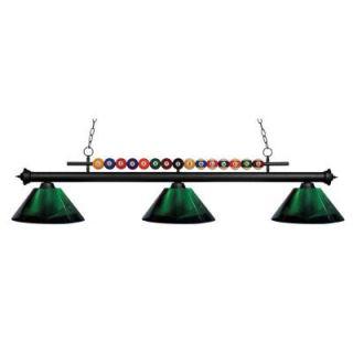 Z lite Kerstin 3 Light Matte Black Billiard Light CLI JB049145