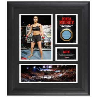 Fanatics Authentic Ronda Rousey Ultimate Fighting Championship Framed 15 x 17 Collage with Piece of Match Used Canvas from UFC 175