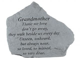 Kay Berry  Inc. 15220 Grandmother Those We Love   Memorial   6.875 Inches x 5.5 Inches