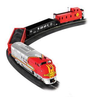 Bachmann Trains Santa Fe Flyer HO Scale Ready To Run Electric Train Set    Bachmann