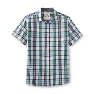 Roebuck & Co. Young Mens Short Sleeve Shirt   Plaid   Clothing, Shoes