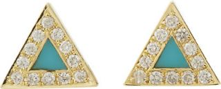 Jennifer Meyer Triangle Stud Earrings