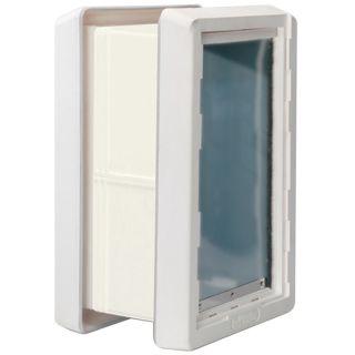 Ideal Pet Products X Large Cream Plastic Wall Pet Door (Actual: 17 in x 9.75 in)