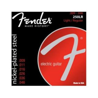 Fender Super 250LR Light Regular Electric Guitar Strings, Set of 6 Strings 0730250404