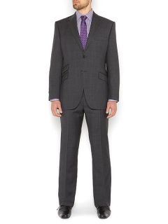 Howick Tailored Franklin Prince of Wales Check Suit Jacket Charcoal