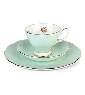 ROYAL ALBERT   Polka Rose 1930 three piece tea set
