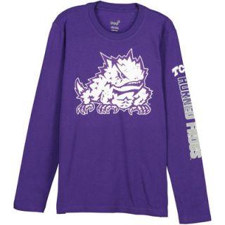 TCU Horned Frogs Youth Hourglass Long Sleeve T Shirt   Purple