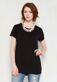 Simplicity on a Saturday Tunic in Black  Mod Retro Vintage Short Sleeve Shirts