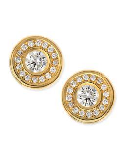 Roberto Coin 18 karat Yellow Gold Diamond Stud Earrings