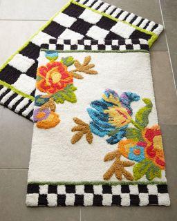 MacKenzie Childs Flower Market & Courtly Check® Bath Mats