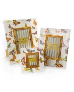 MacKenzie Childs White Butterfly Garden Frames