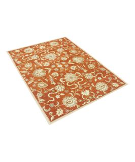 Alliyah Rugs Alliyah Handmade Rust New Zealand Blend Wool Rug (379702701)