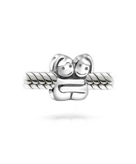 Bling Jewelry Bling Jewelry 925 Silver Hugging Sisters Twin Girl Bead Charm Fits Pandora (360158801)
