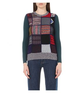 SEE BY CHLOE   Patchwork knitted jumper