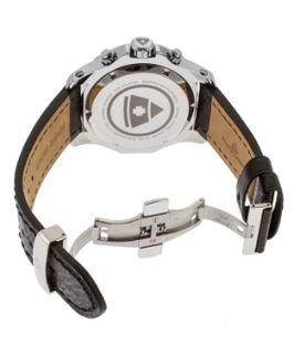 Swiss Legend Islander Chrono Black Genuine Leather And Dial Ss Case (382721201)