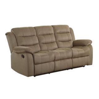 Coaster Rodman Motion Sofa in Tan   601884