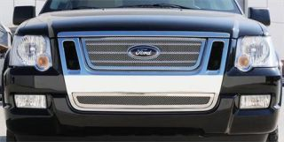 T Rex Grilles   Upper Class; Mesh Grille Insert   Fits 2006 to 2010 Ford Explorer Sport Trac & Explorer Eddie Bauer