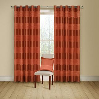 Montgomery Terracotta Arianna lined curtains with eyelet heading
