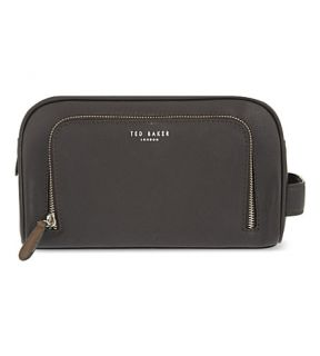 TED BAKER   Zipped leather wash bag