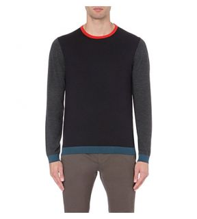 TED BAKER   Basenew colour blocked wool jumper