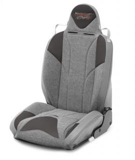 MasterCraft Safety   MasterCraft Safety Baja RS DirtSport Reclining Seat, Driver Side Front Smoke/Gray 504107   Fits 1976 to 1995 YJ Wrangler and CJ, direct bolt in