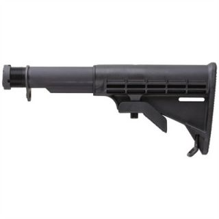 AR 15 Stock Collapsible Commercial BLK  : AR 15 STOCK COLLAPSIBLE COMMERCIAL