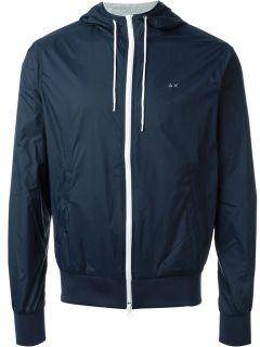 Sun 68 'rain' Hooded Zip Up Jacket   Lord
