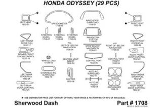 2010 Honda Odyssey Wood Dash Kits   Sherwood Innovations 1708 R   Sherwood Innovations Dash Kits