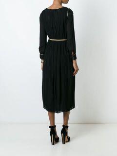 Saint Laurent Pleated Mid length Dress   L'eclaireur