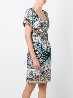 Etro Shortsleeved Floral Print Dress    Biedermann En Vogue