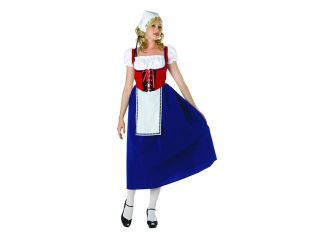 RG Costumes 81379 L Large Swiss Miss Maiden Adult Costume   Blue