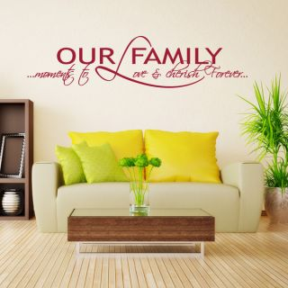Our Family Quote Phrases Wall Decal   17738020