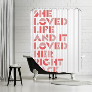 Americanflat She Loved Life And It Loved Her Right Back Shower