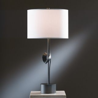 Gallery Twist 1 Light 24.3 H Table Lamp with Drum Shade by Hubbardton