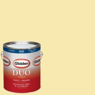 Glidden DUO 1 gal. #HDGG03U Gin Fizz Satin Latex Interior Paint with Primer HDGG03U 01SA