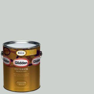 Glidden Premium 1 gal. #HDGCN10 Barely Jade Flat Latex Exterior Paint HDGCN10PX 01F