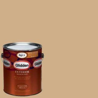 Glidden Premium 1 gal. #HDGY12U Cookie Crumb Semi Gloss Latex Exterior Paint HDGY12UPX 01S