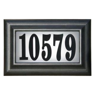 QualArc Edgewood Classic Lighted Address Plaque LTP 1304 LED
