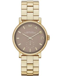 Marc by Marc Jacobs Womens Baker Gold Tone Stainless Steel Bracelet