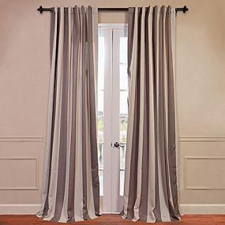 Half Price Drapes Charleston Striped Blackout Single Curtain Panel; 96 L x 50 W