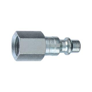 Tru Flate 3/8 In. Female Industrial Female Plug (12537)   Air Compressor Accessories
