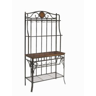 Home Styles Oak Hill Storage Bakers Rack