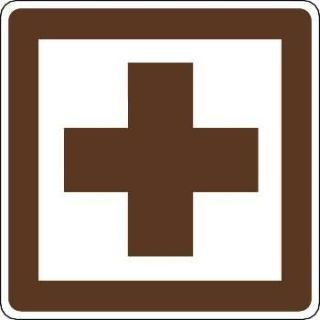 First Aid Symbol Outdoor Recreation Sign