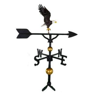 Montague Metal Products 32 in. Deluxe Black Full Bodied Eagle Weathervane WV 302 NC