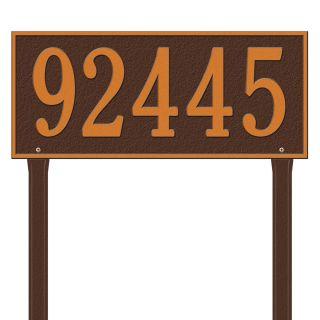 Whitehall 27 in x 23.25 in Hartford Estate Lawn One Line Antique Copper Plaque