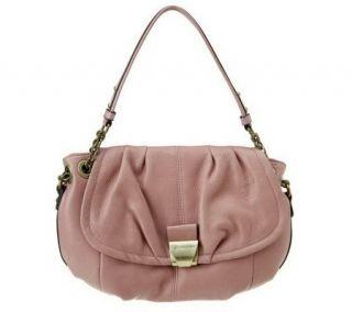 B. Makowsky Glove Leather Flap Top Shoulder Bag w/ Chain Strap —