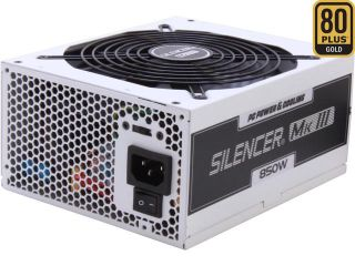 PC Power & Cooling Silencer Series PPCMK3S850 850 Watt (850W) 80 Plus Gold Semi Modular Active PFC ATX PC Power Supply Industrial Grade