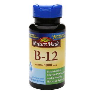 Nature Made Vitamin B 12, 1000mcg, Liquid Softgels