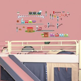 Planes, Trains, and Things That Go! Peel & Stick Kids Room Wall Decal